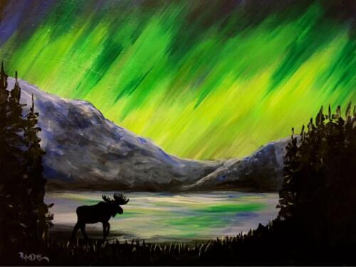 Northern Lights Moose